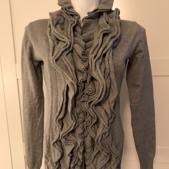 Romeo & Juliet Couture Sweaters - Romeo & Juliet Couture Ruffled Cardigan Sweater